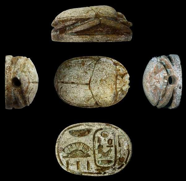 Skarabäus mit dem Namen Amenhotep III. (14. Jh. v. Chr.), Foto: © JCHP (Peilstöcker & Burke)