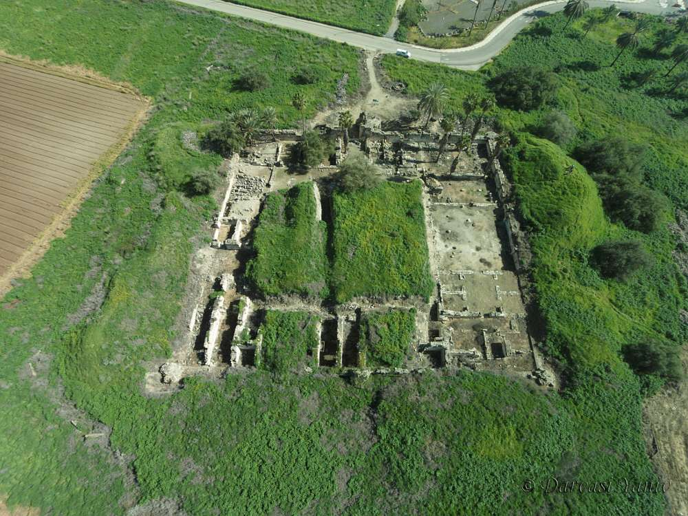 Ausgrabungsstätte des frühislamischen Kalifenpalastes Khirbat al-Minya