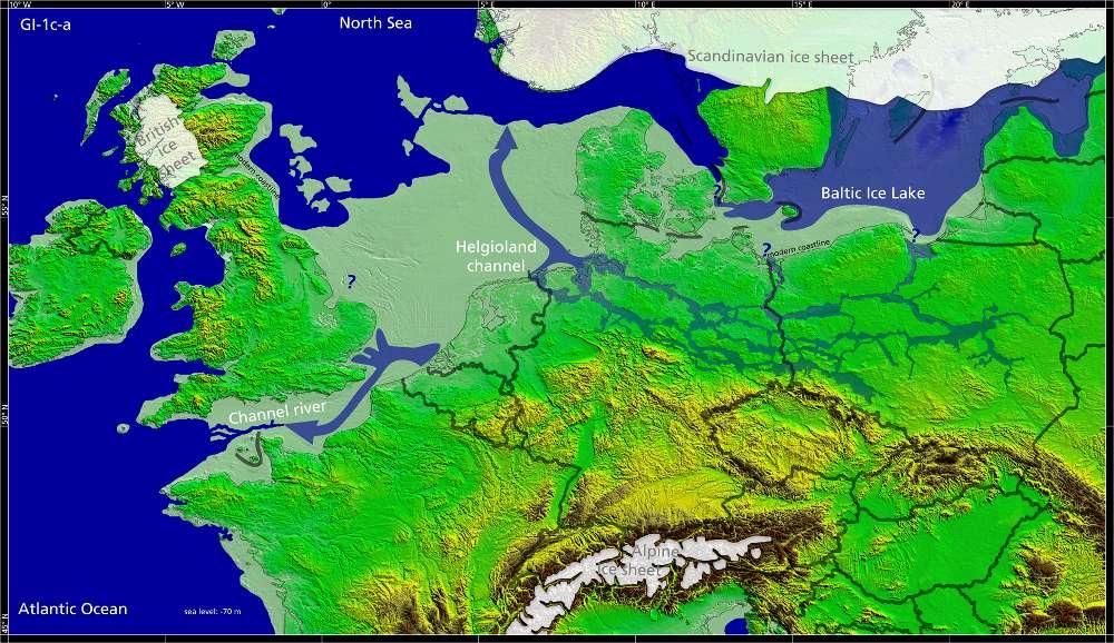 Europa vor rund 13.500 Jahren