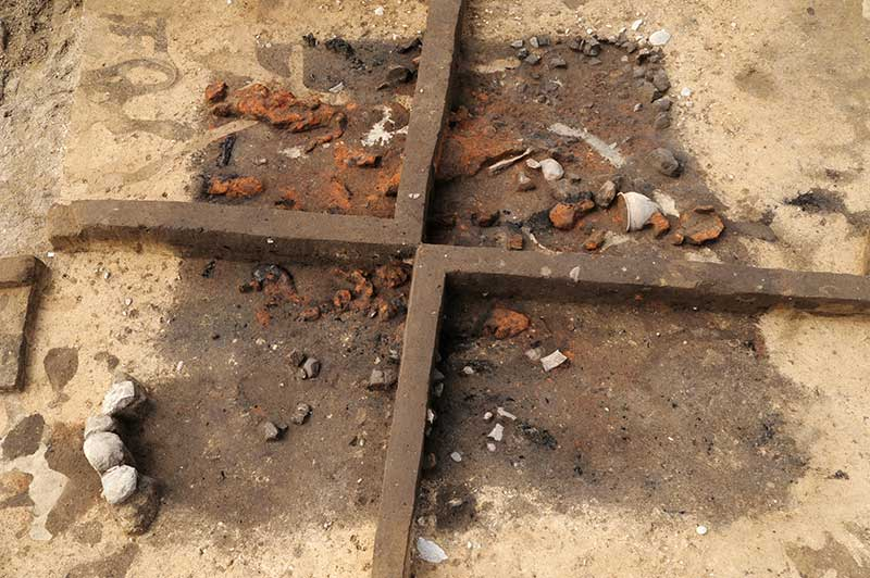 Grubenhaus im archäologischen Befund