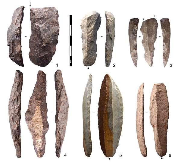 Klingen-Geräte aus dem Aurignacien