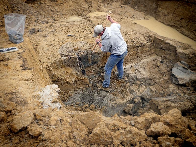 Ausgrabung der Leiter