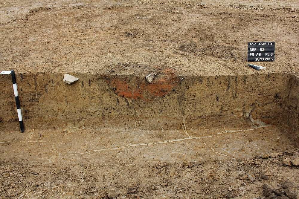 Überreste von Speichergruben