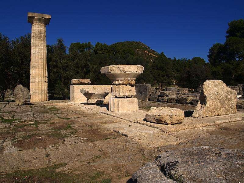 Ansicht des Zeus-Tempels von Westen nach Abschluss der Arbeiten (Photo: R. Senff)