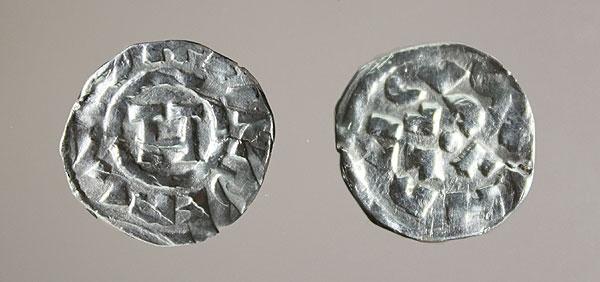 Silbermünze Kaiser Heinrichs II. aus Lucca. (Foto: LWL/T. Wegener)