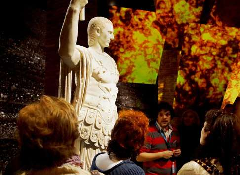 Impression aus der Pompeji-Ausstellung in Madrid (Foto: © Canal de Isabel II Gestión)