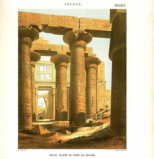 Säulenhalle im Tempel von Karnak