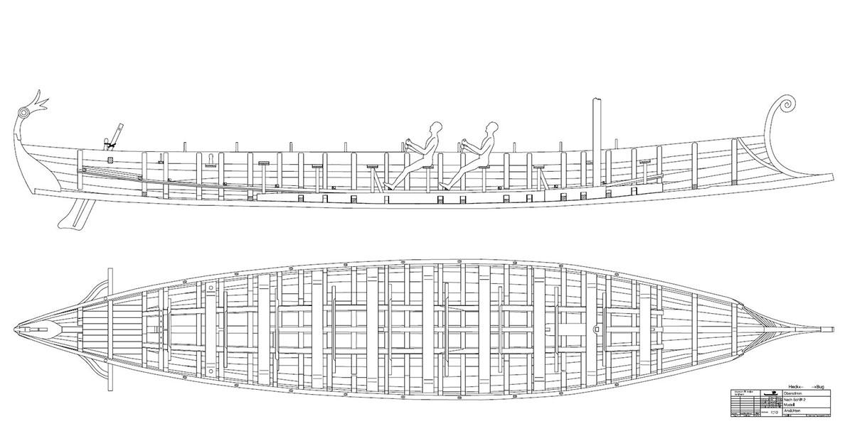 Römerboot Skizze