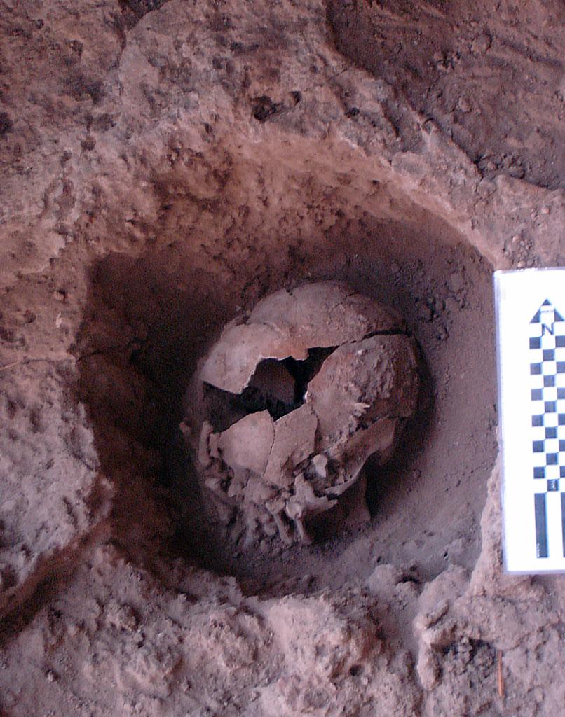 Überreste einer Bestattungszeremonie
