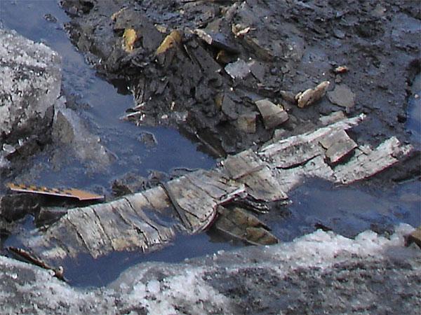 Neolithischer Pfeilköcher aus Birkenrinde