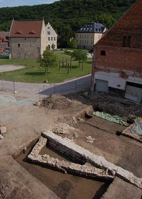 Relikte von Wirtschaftsbauten im Kloster Schulpforta