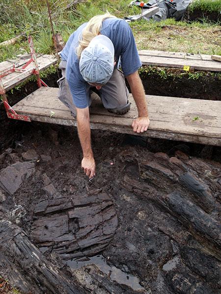 Ausgrabung Holzrad