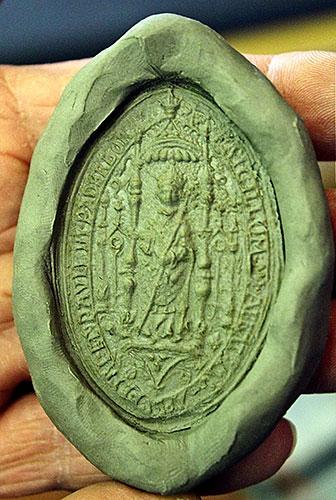 Abdruck des Siegelstempels aus dem späten 16. Jahrhundert