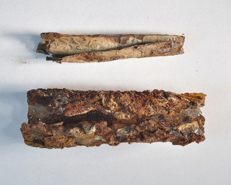 Silberamulett und Bleibehälter aus Jerash