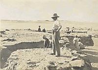 Georg Steindorff bei Ausgrabungen