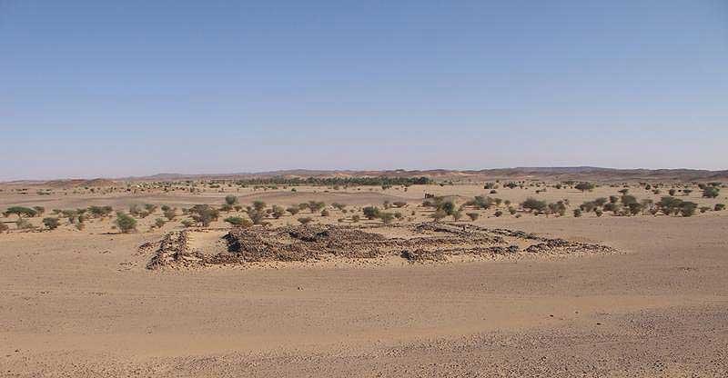 Umm Ruweim im Wadi Abu Dom, einem nur saisonal wasserführenden Flusstal in der Wüste Bayudae (Foto: WWU Münster)