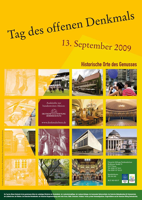 Plakat Tag des offenen Denkmals 2009