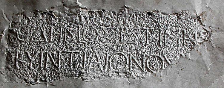 Kopie der Ehreninschrift für Varus aus Pergamon. Berlin-Brandenburgische Akademie der Wissenschaften. (Foto: K. Hallof)