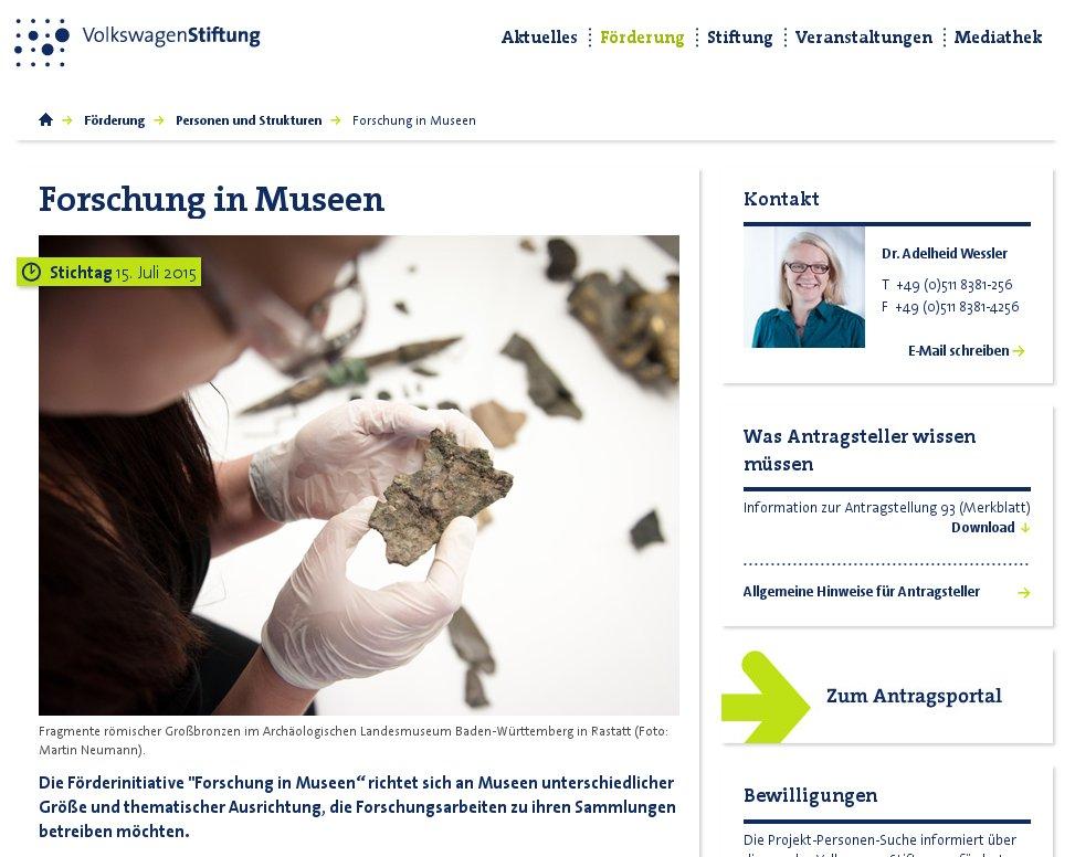 "Förderinitiative ""Forschung in Museen"""
