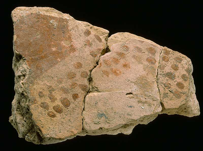 Eisenzeitlicher Wandputz mit Bemalung