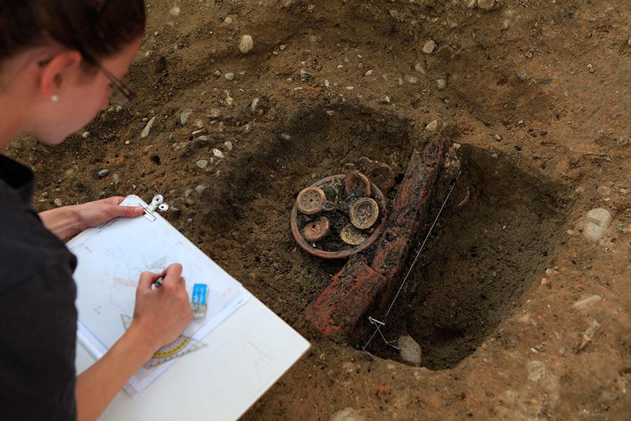 Dokumentation des Fundes in situ