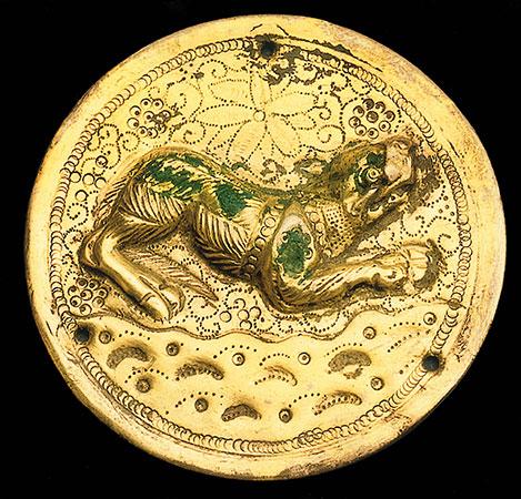 Vergoldete Zierschale aus dem Römerlager Oberaden