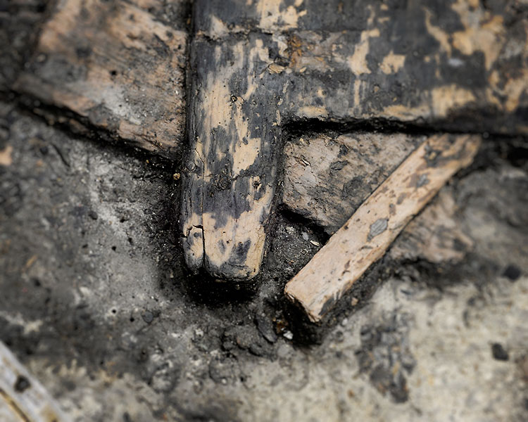Detail der Steinzeit-Tür