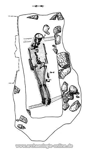 Klerikergrab des frühen 7. Jahrhunderts