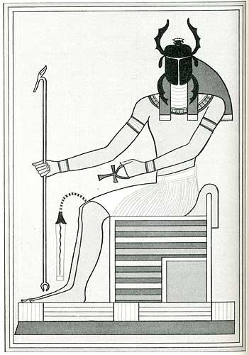 Der Gott Chepri (aus: Budge 1904)