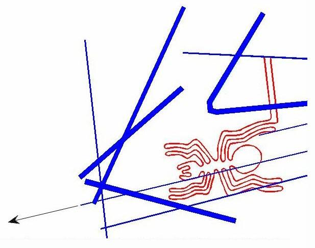 Abb. 6| Linie zum Stern Rigel (Grafik: B. Teichert)