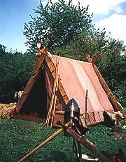 Zelt im Wikingerlager
