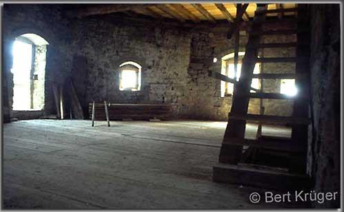 Rekonstruierter Innenraum im Pallazzo III. (Foto: B. Krüger)