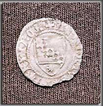 Ein Fund auf der Grabung: Denar des Patriarchen Antonio II. Panciera (1402 - 1408). (Foto: K. Kilian)