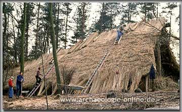 Dachdeckarbeiten des im Museum Oerlinghausen