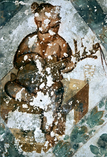 Lautenspielerdarstellung in den Fresken des umayyadischen »Wüstenschlosses« Quseir 'Amra