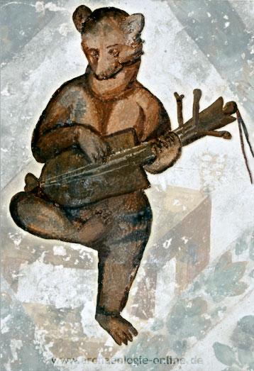 autenspielerdarstellung in den Fresken des umayyadischen »Wüstenschlosses« Quseir 'Amra