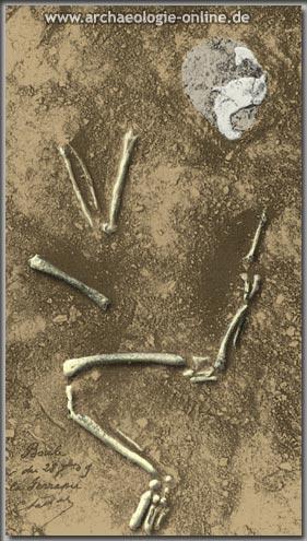 La Ferrassie (Dordogne): Bestattung eines erwachsenen Neandertalers