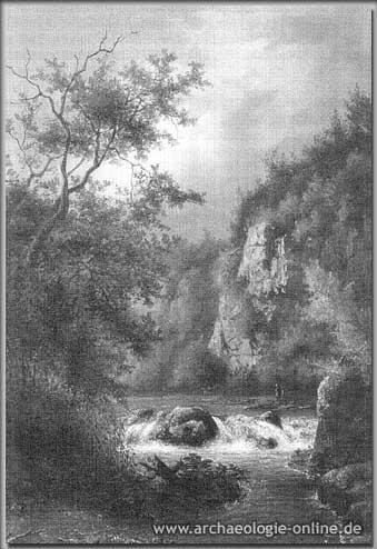 Ansicht des Neanderthales von 1843