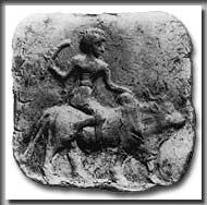 Mesopotamischer Rinderreiter, um 2000 v.Chr. (Foto: V. Horn)