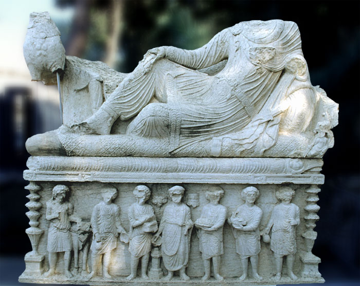 Palmyra: Grabrelief im Museum Tadmor