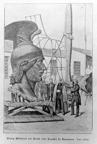 König Wilhelm bei Ernst von Bandel 1869.