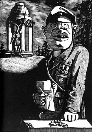 Karl Rössing: Aus dem deutschen Märchenwald. Holzstich aus dem Zyklus: »Mein Vorurteil gegen diese Zeit«, Büchergilde Gutenberg Berlin 1932