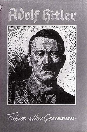 Adolf Hitler Führer aller Germanen. Titel des Niederländischen SS_Blattes »Vormingsbladen«