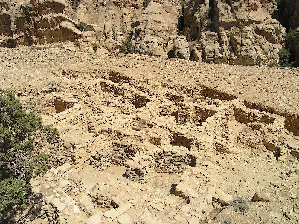 Die neolithische Siedlung Ba'ja in Jordanien liegt etwa 14 km nördlich von Petra